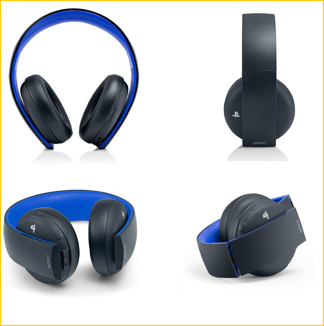 sony playstation gold wireless test casque officiel ps4. Black Bedroom Furniture Sets. Home Design Ideas