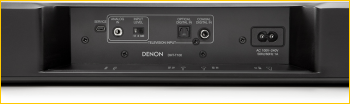 Connectique Barre de son Denon