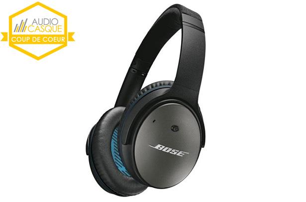 Avis sur le Bose QC25, le meilleur casque filaire à réduction de bruit active