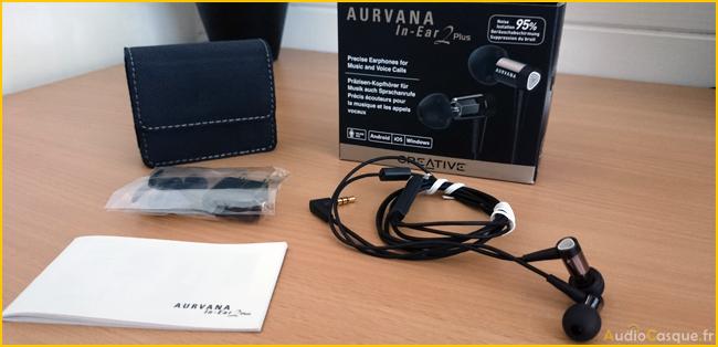 Unboxing ecouteurs Creative Aurvana