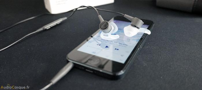 Ecouteurs Bose SoundTrue sur un iPhone 5