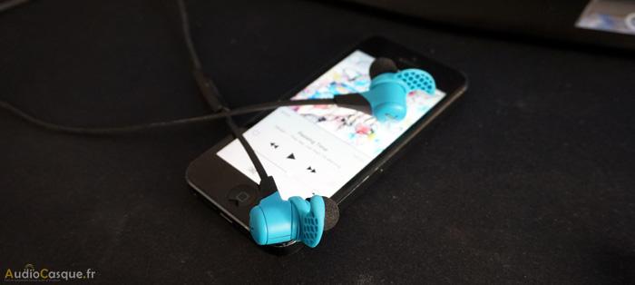Ecouteurs pour le sport avec bonne qualité audio
