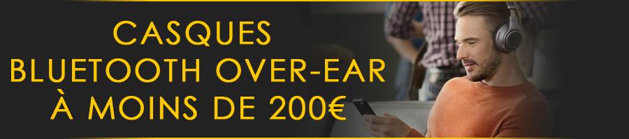 Top casques circum-aural bluetooth à moins de 200€