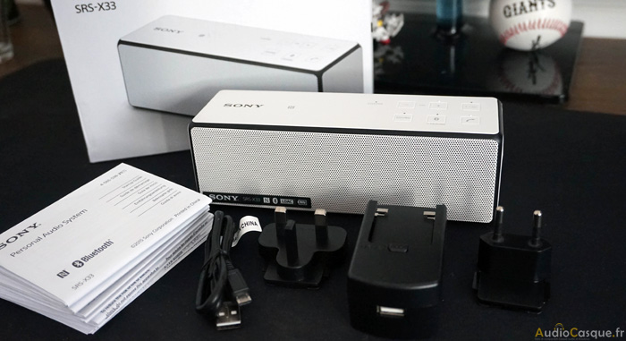 Unboxing de la Sony SRS-X33
