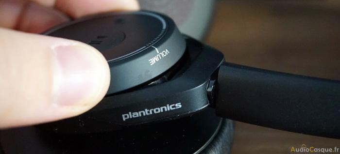 Zoom sur la molette permettant de gérer le volume sonore