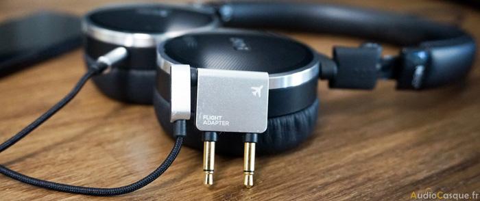 Adaptateur avion pour casque audio