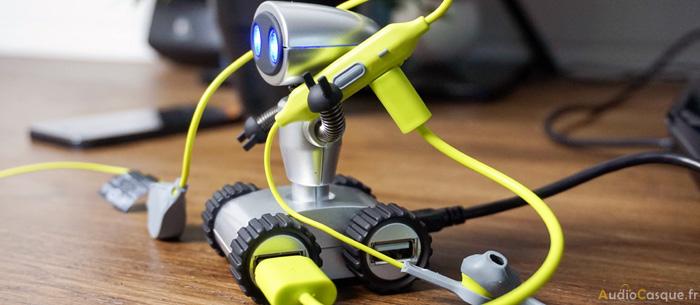 Autonomie et recharge par USB