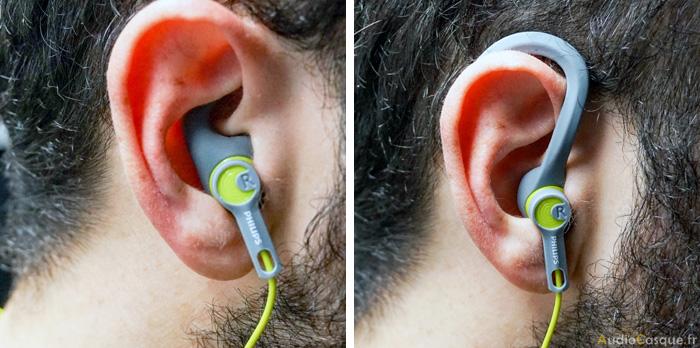 Ecouteurs sans fil tour d'oreille pour le sport
