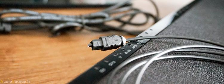 Barre de son avec connexion simplifiée