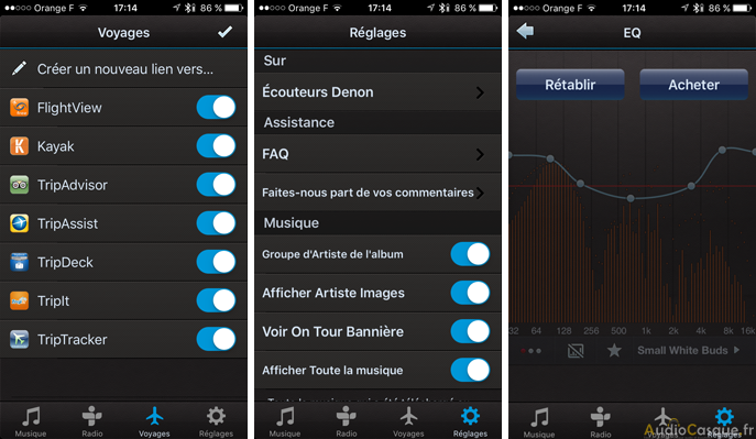 Denon Travel App iOS