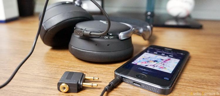 Ecoute en filaire avec batterie vide