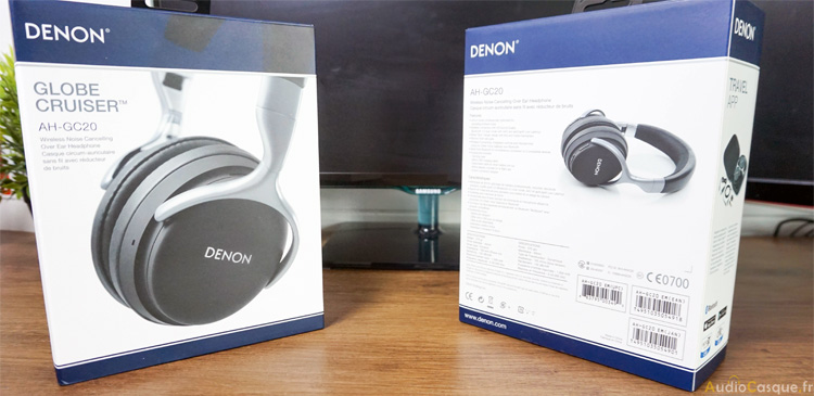 Packaging casque ANC Denon