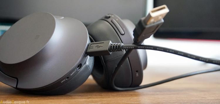 Autonomie du casque et recharge via USB
