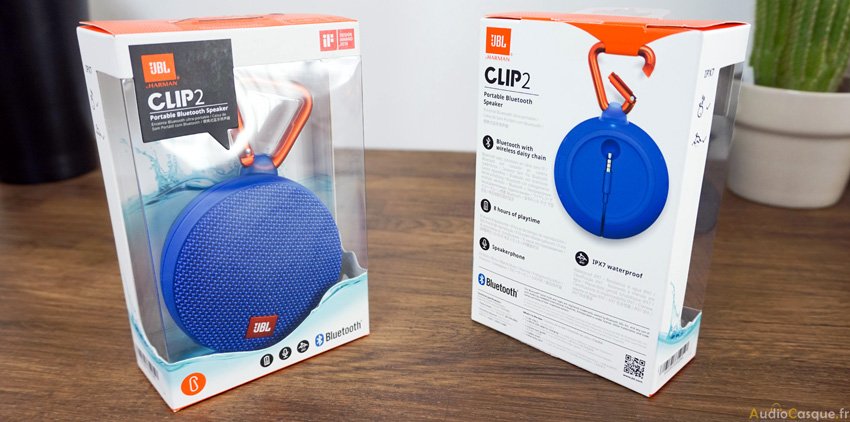 Packaging de la JBL Clip 2