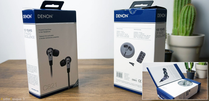 Packaging AH-C821 de Denon