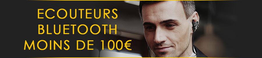 Ecouteurs Bluetooth à moins de 100€