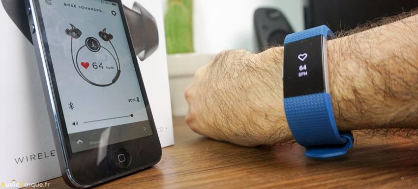 Ecouteurs Bluetooth avec cardiofrequencemètre