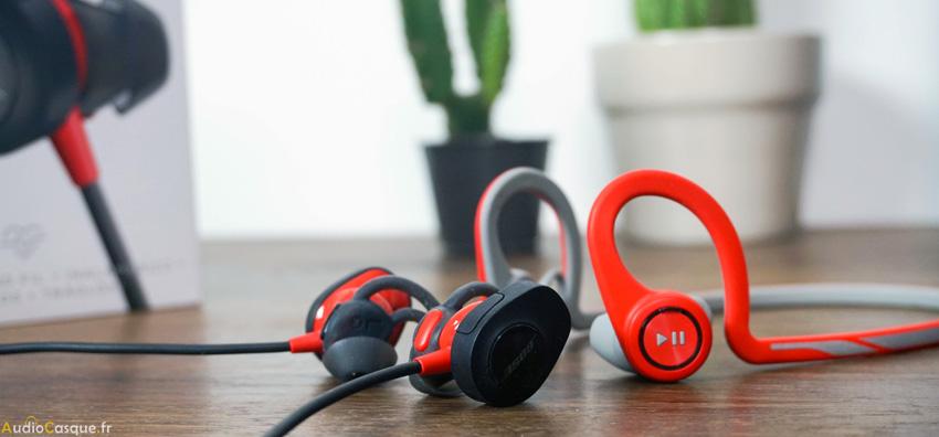 Taille des écouteurs SoundSport Pulse de chez Bose