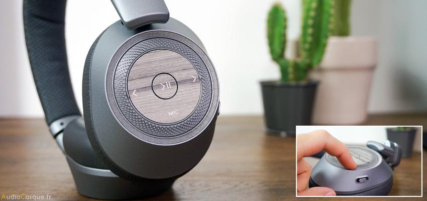 Commandes sur casque Bluetooth Plantronics