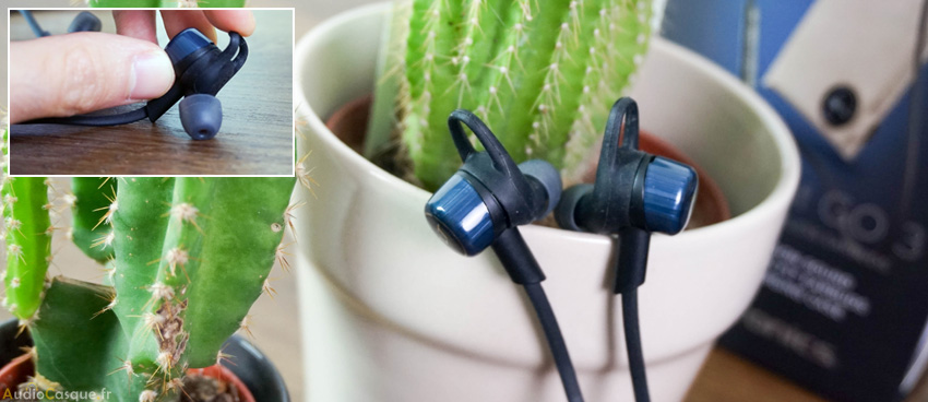 Maintien des écouteurs bluetooth sans-fil
