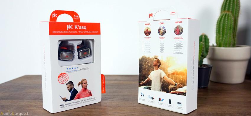 Packaging écouteurs PKParis