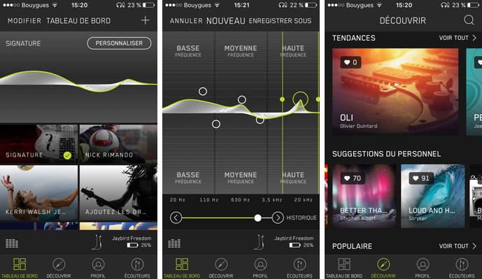 Application Jaybird MySound
