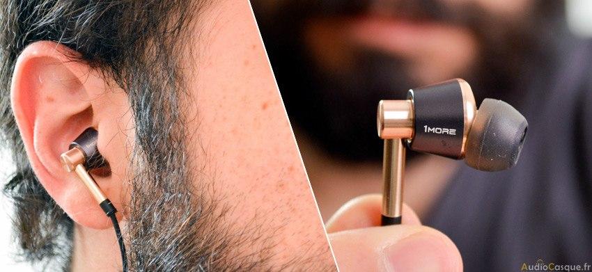 Ecouteurs intra-auriculaires performants et confortables