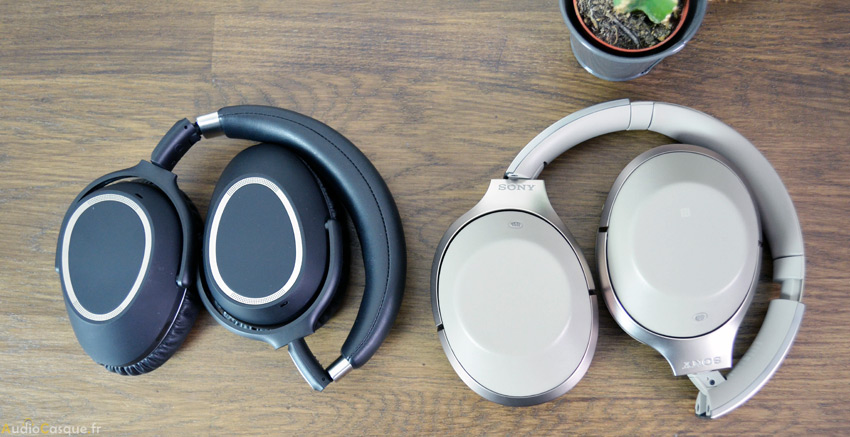 Casque audio pliable à plat
