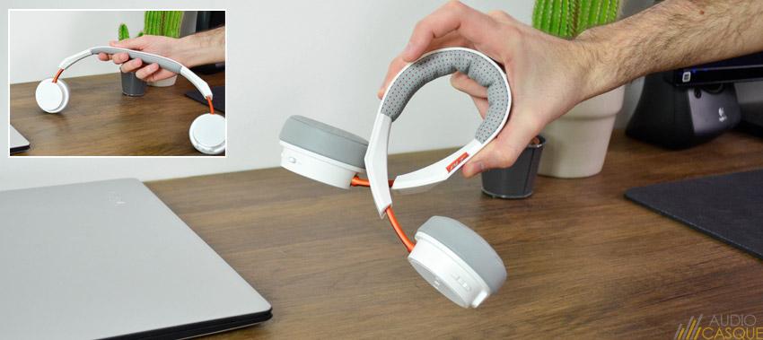 Casque audio avec un arceau flexible mais solide