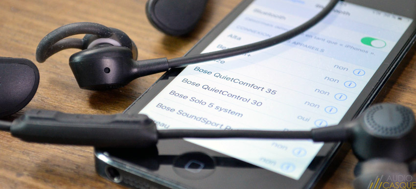 Ecouteurs Bluetooth avec puce NFC pour une connexion directe