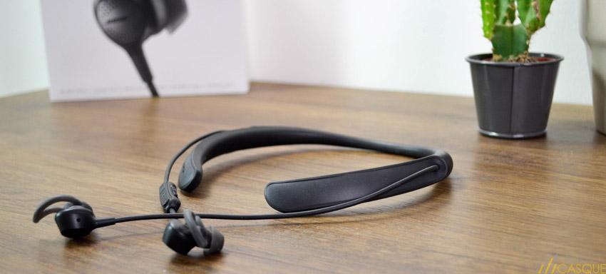 Des écouteurs Bluetooth avec un design tour de cou
