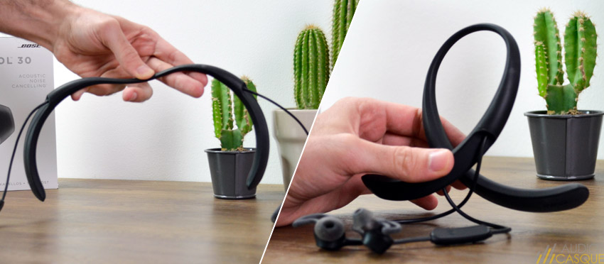 Ecouteur avec design tour de cou flexible