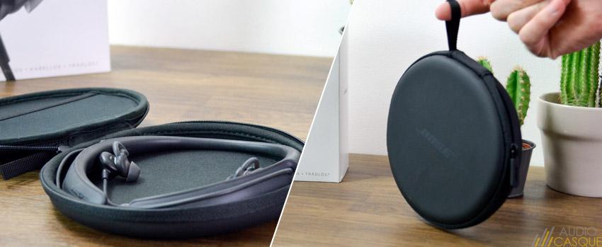 Pochette de transport zippée pour les écouteurs a réduction de bruit de Bose