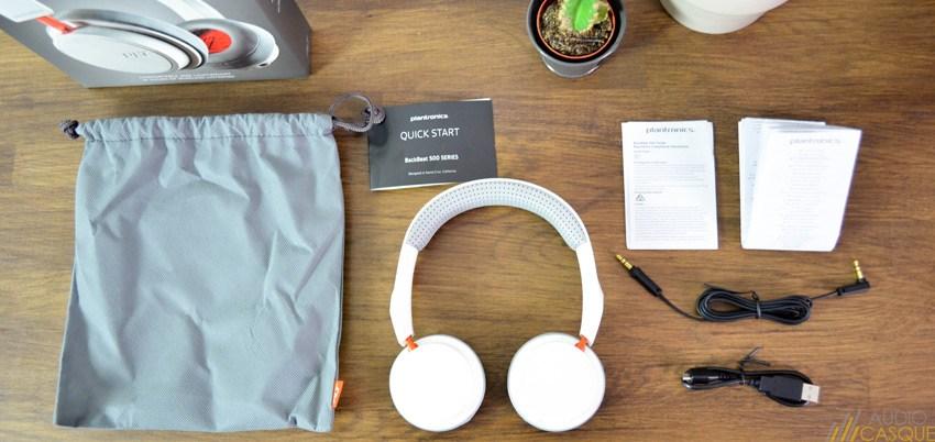 Unboxing du casque Plantronics BackBeat 500, un casque supra-aural fonctionnant sans fil