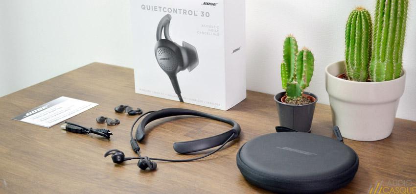 Unboxing des écouteurs Bose QuietControl 30 avec réduction active de bruit