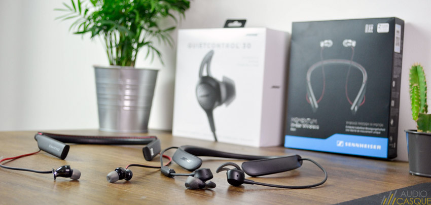 Ecouteurs Momentum Wireless In-Ear vs Bose QC30