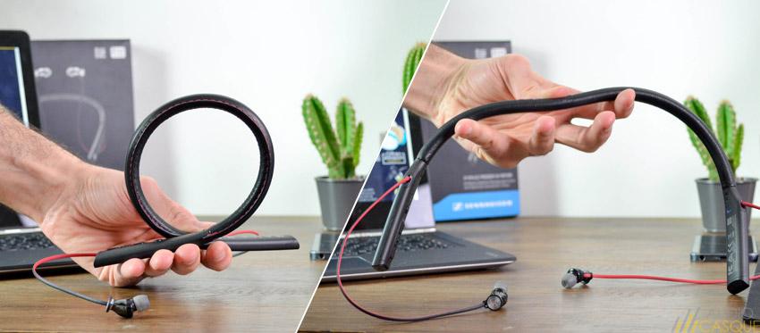 Le bandeau des écouteurs est rigide et flexible, s'adaptant facilement à tous les utilisateurs