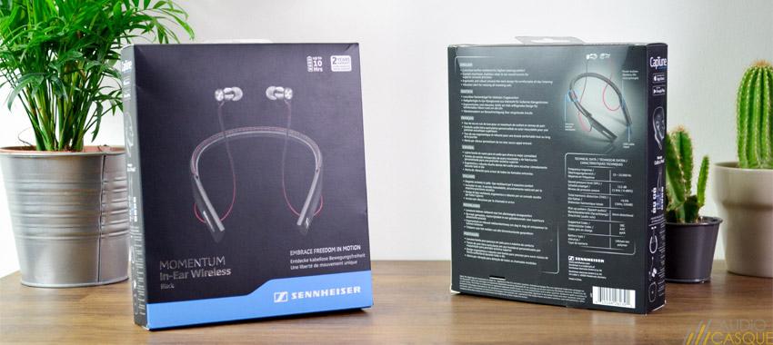 Packaging des écouteurs Momentum In-Ear de Sennheiser