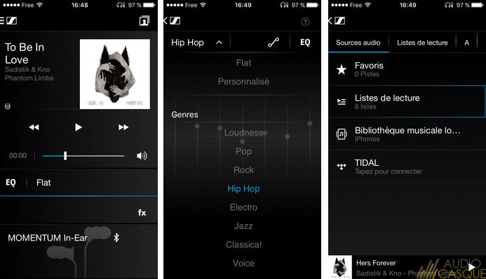 Présentation de l'application Sennheiser CapTune pour gérer l'égaliseur de sa musique