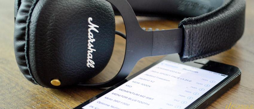 Casque Bluetooth aptX de Marshall