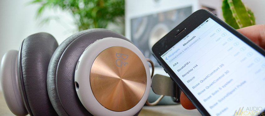 Casque Bluetooth de chez Bang & Olufsen BeoPlay