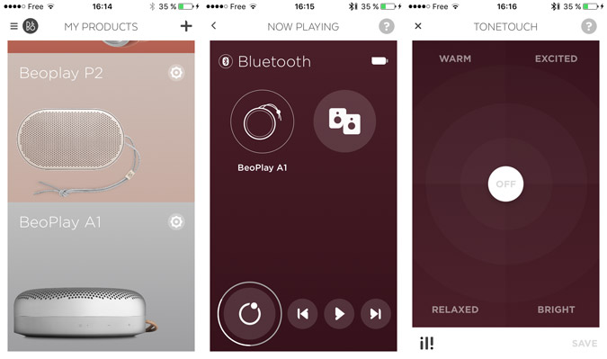 Application mobile BeoPlay