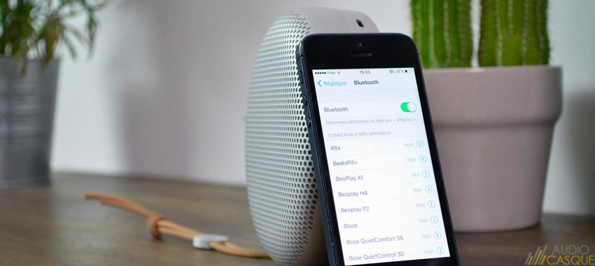 L'enceinte est compatible avec le Bluetooth 4.2
