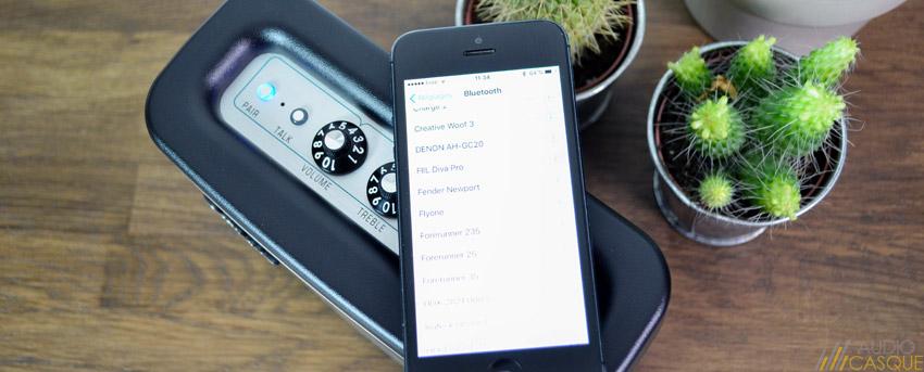 Connexion de l'enceinte Bluetooth Fender