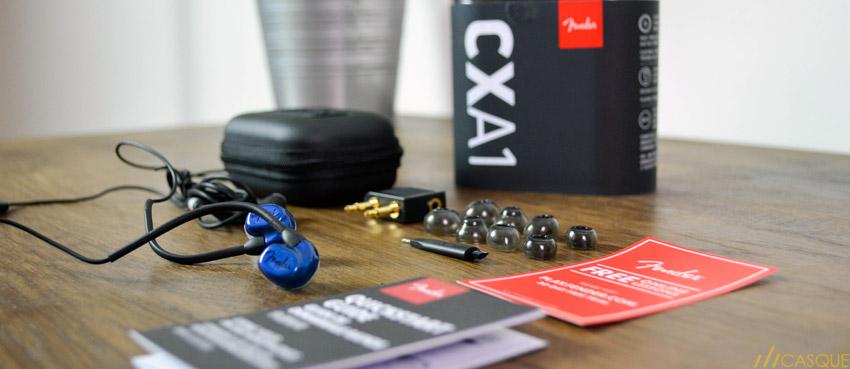 Unboxing des écouteurs Fender CXA1