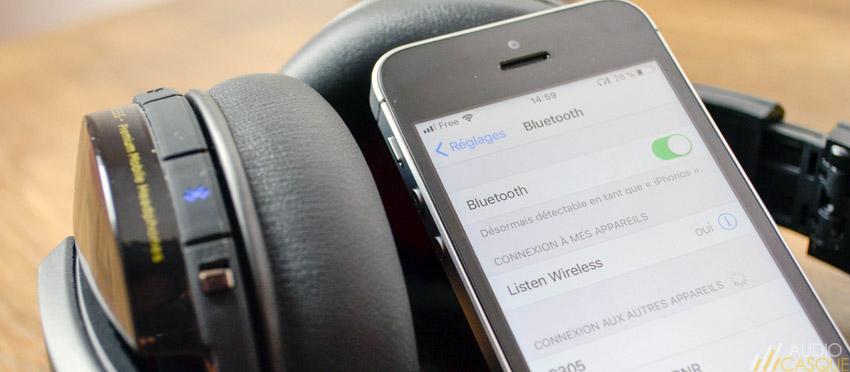 Le casque est compatible Bluetooth 4.1 aptX