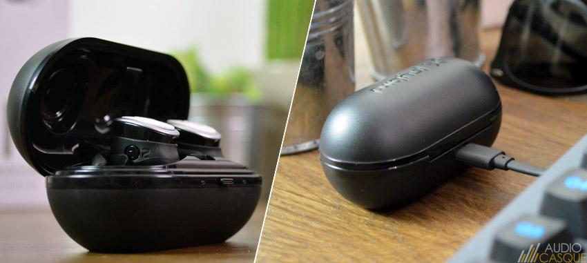Le boitier permet de tripler l'autonomie des écouteurs