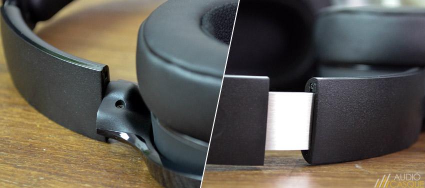 Les finitions du casque audio ne sont pas parfaites
