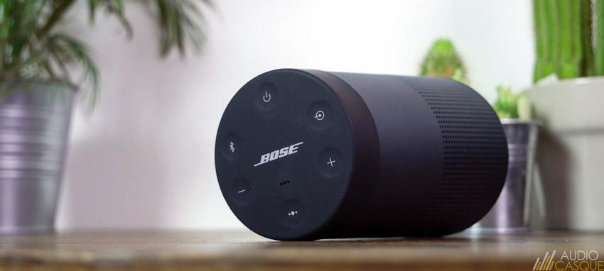 Commandes de l'enceinte Bluetooth Bose Revolve