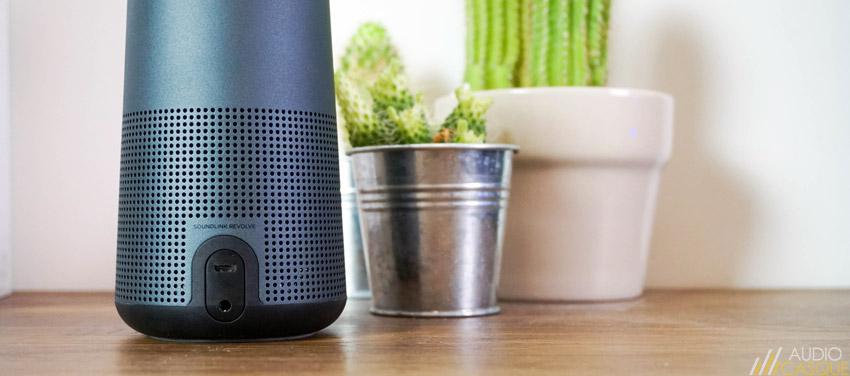 Utiliser la Bose SoundLink Revolve en filaire